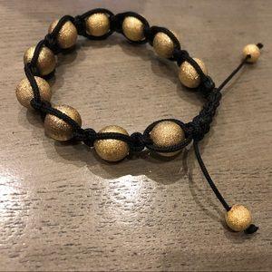 Other - New Shimmering Gold Beaded Bracelet O/S